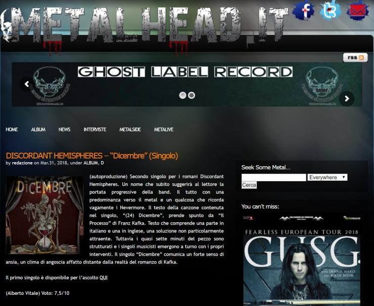 MetalHead - Rece - Dic
